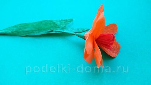 цветок лютик из гофробумаги 07