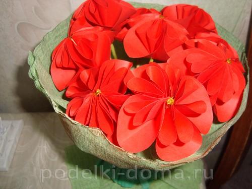 цветы для мамы оригами красные