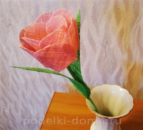 тюльпан из ниток 12