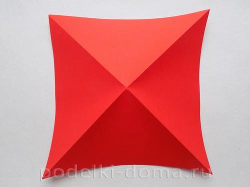 бумажная ракета из бумаги оригами04