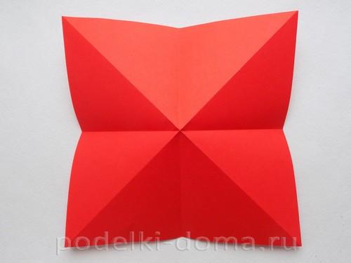 бумажная ракета из бумаги оригами06