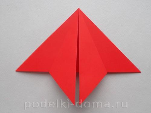 бумажная ракета из бумаги оригами09