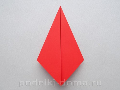 бумажная ракета из бумаги оригами10