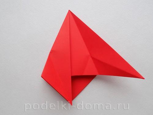 бумажная ракета из бумаги оригами13