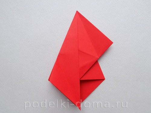 бумажная ракета из бумаги оригами14