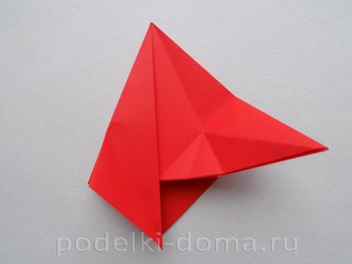 бумажная ракета из бумаги оригами15