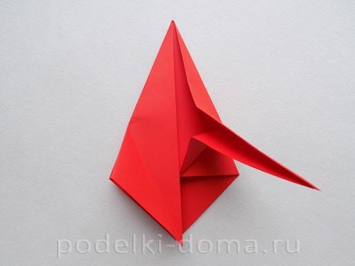 бумажная ракета из бумаги оригами16