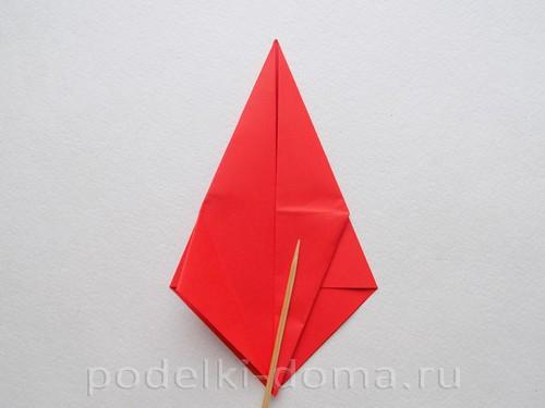бумажная ракета из бумаги оригами17