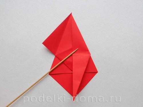 бумажная ракета из бумаги оригами18