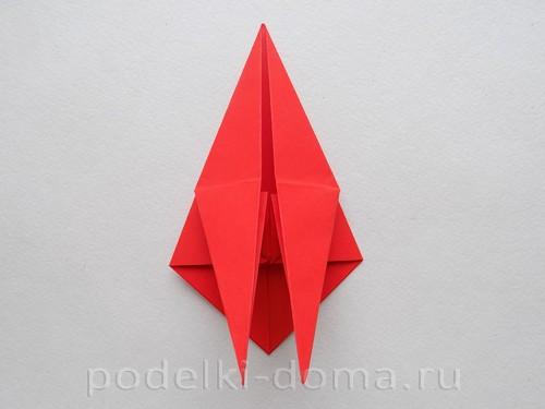 бумажная ракета из бумаги оригами19