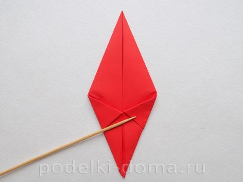 бумажная ракета из бумаги оригами20