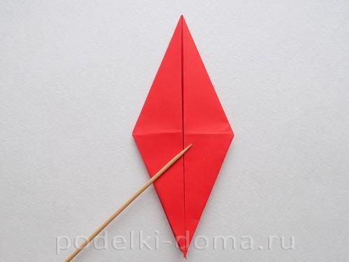 бумажная ракета из бумаги оригами21
