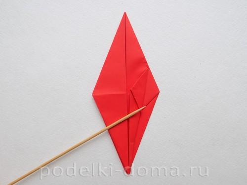 бумажная ракета из бумаги оригами22