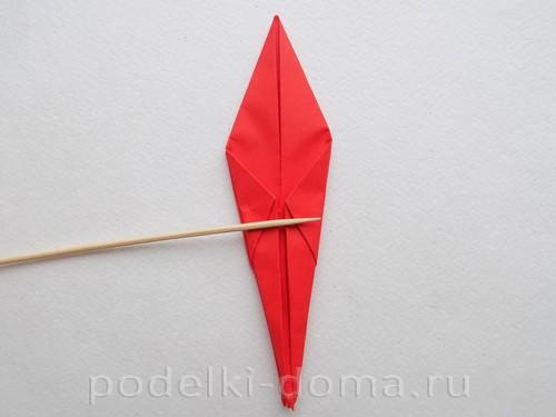 бумажная ракета из бумаги оригами24