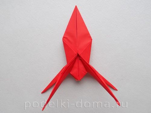 бумажная ракета из бумаги оригами26