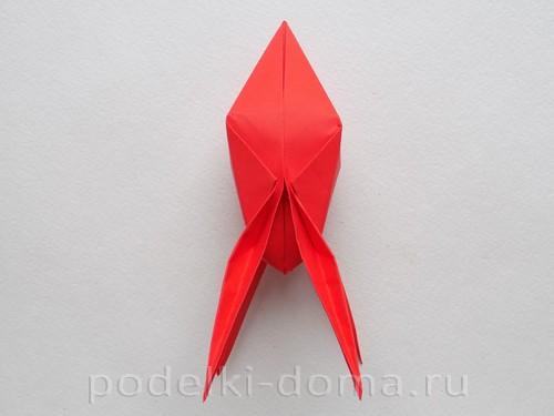 бумажная ракета из бумаги оригами27