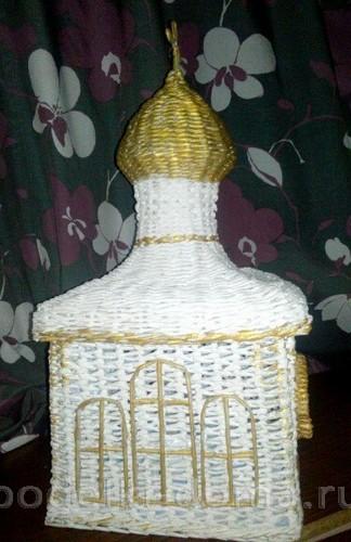храм из бумажных трубочек 10