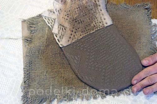 придаем текстуру глине