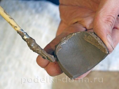 карандашница из глины 18