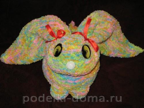 кролик вязаный спицами 13