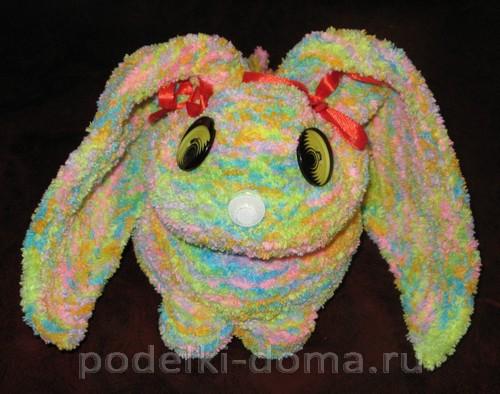 кролик вязаный спицами 14