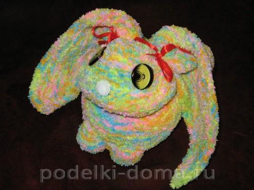 кролик вязаный спицами 15