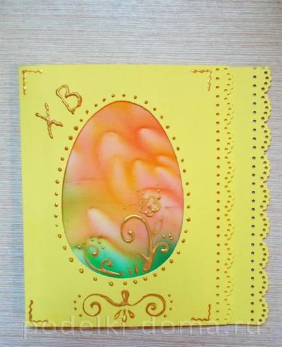 открытка к Пасхе батик 07