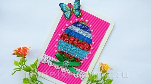 пасхальная открытка из фантиков09