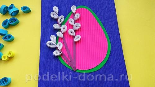 пасхальная открытка квиллинг 06