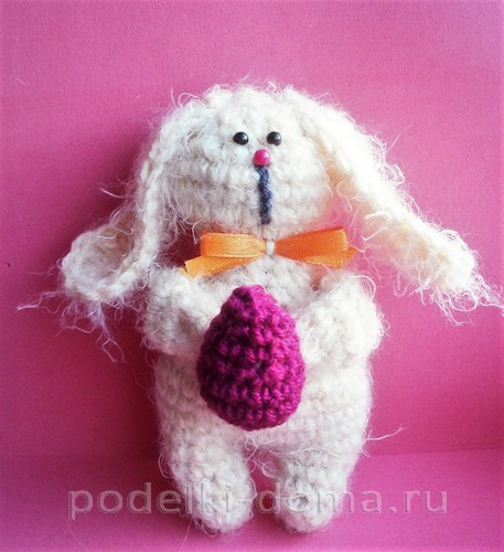пасхальный кролик вязаный крючком10