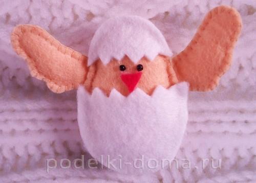 пасхальный заяц из фетра 11