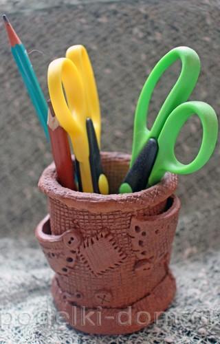 керамическая карандашница