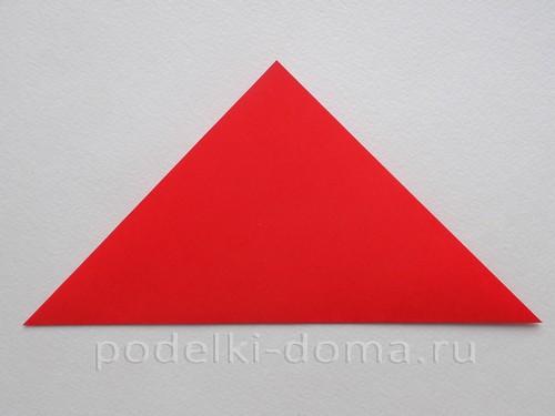 ракета из бумаги оригами 03