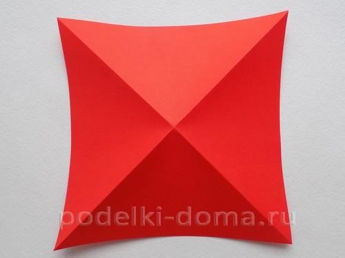 ракета из бумаги оригами 04