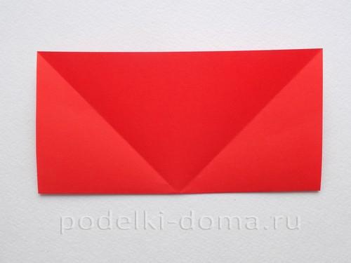 ракета из бумаги оригами 05