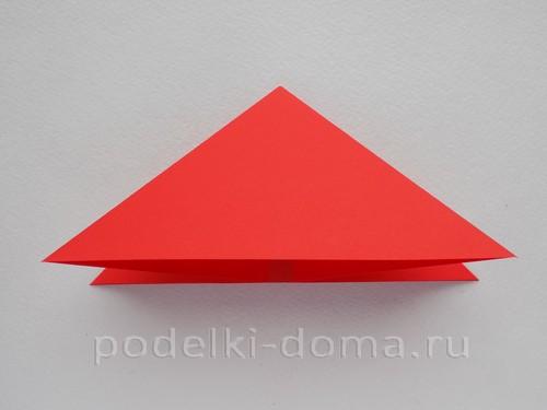 ракета из бумаги оригами 06