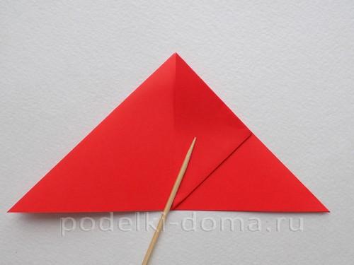 ракета из бумаги оригами 07