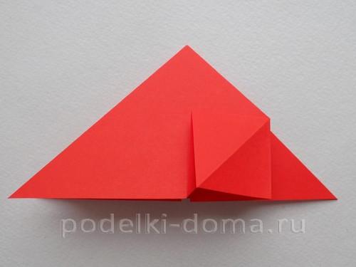ракета из бумаги оригами 09