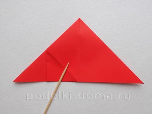 ракета из бумаги оригами 10