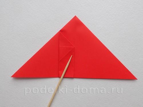 ракета из бумаги оригами 11