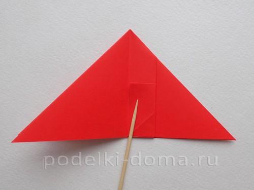ракета из бумаги оригами 12