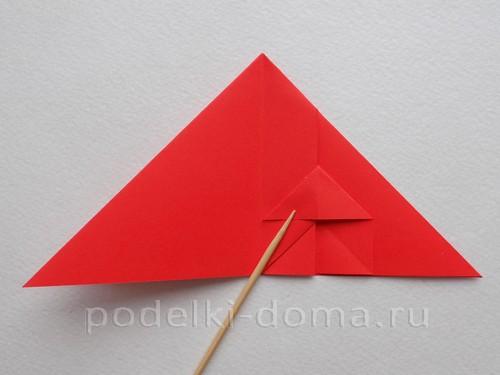 ракета из бумаги оригами 13