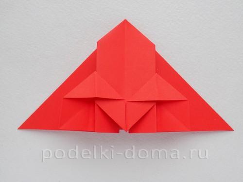 ракета из бумаги оригами 14