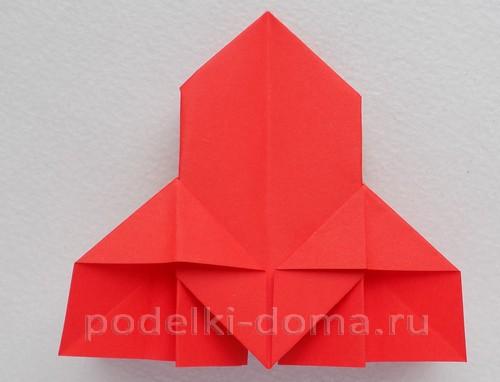 ракета из бумаги оригами 15
