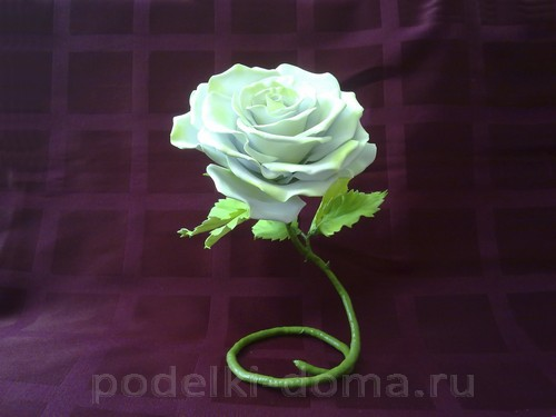 "roza-iz-foamirana04 Роза из фоамирана ""Ольга"" в японской технике"