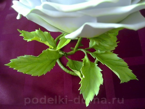 роза из фоамирана08