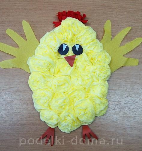 цыпленок из гофробумаги