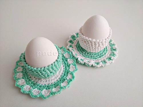 Новые подставки и корзинки для яиц, вязаные крючком