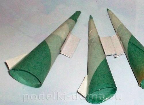 бумажная ракета из бумаги и втулок 07