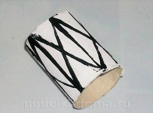 бумажная ракета из бумаги и втулок 17